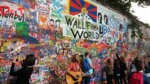 Best things to do in Prague with kids, John lennon wall