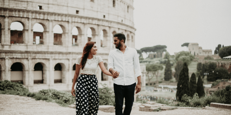 Honeymoon Photoshoot in Rome Italy