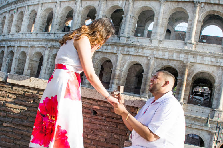 secret proposal in Rome