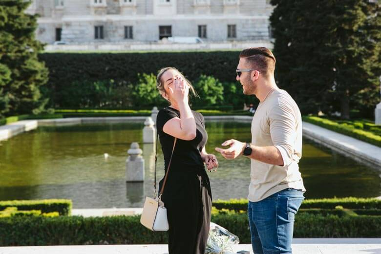 secret proposal photographer in Madrid