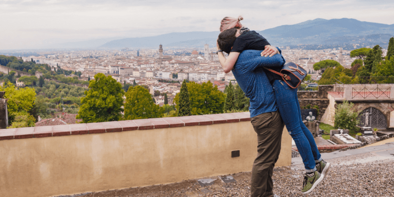 Romantic Surprise Proposal Photoshoot in Florence Italy