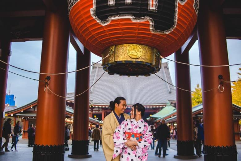 secret proposal photo shoot in Tokyo, Japan