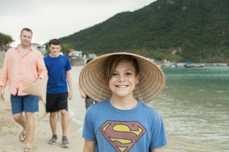family vacation photoshoot in Nha Trang