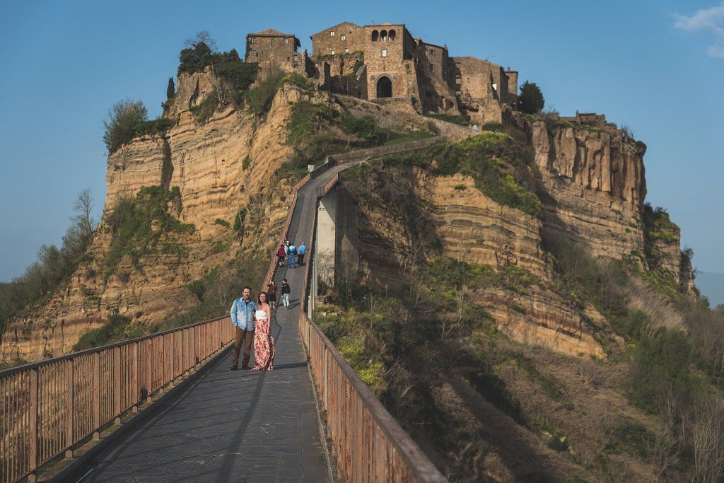 Photographer in Civita di Bagnoregio