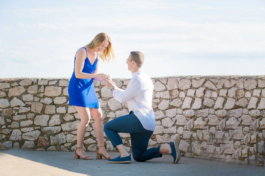 Surprise Proposal Photographer in Nice