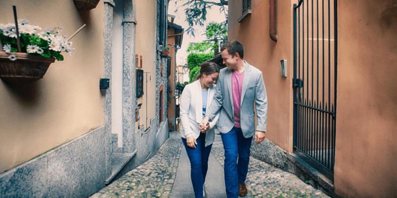 Engagement Photoshoot on Lake Como