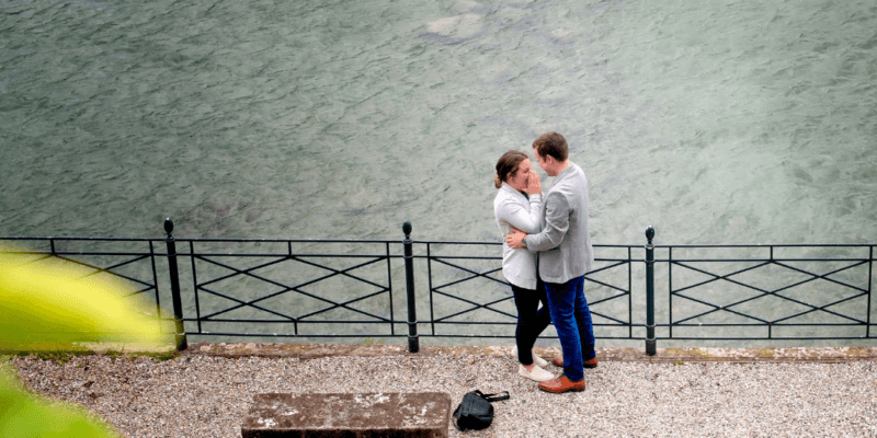 Secret Proposal Photo Shoot on Lake Como