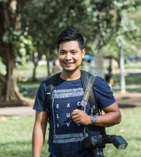 Photographer in Cambodia