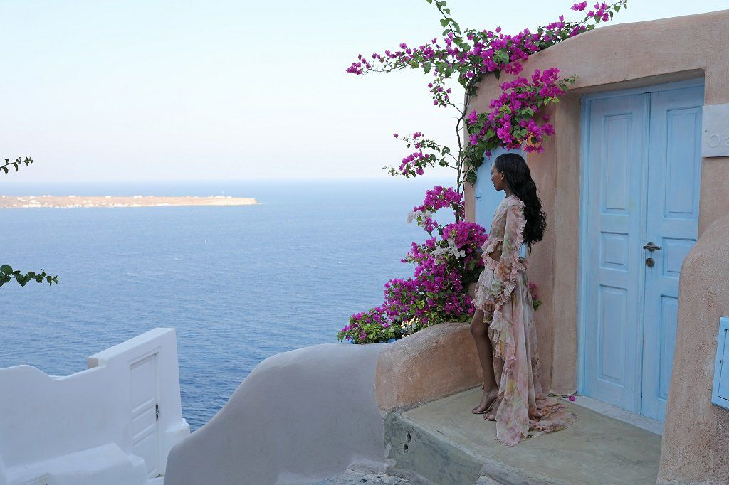 Solo Fashion Photography in Santorini