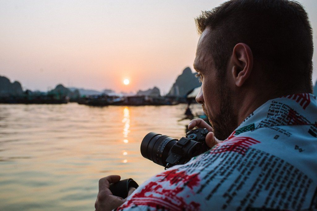 Photographer in Halong Bay