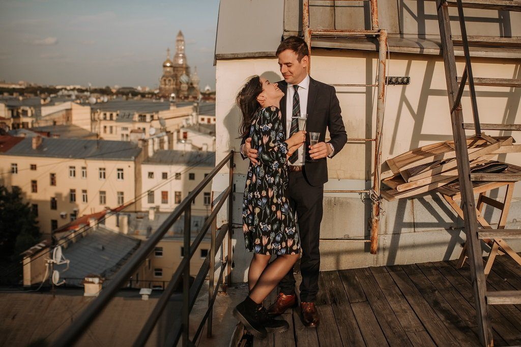 Engagement Photo Shoot in St. Petersburg Russia