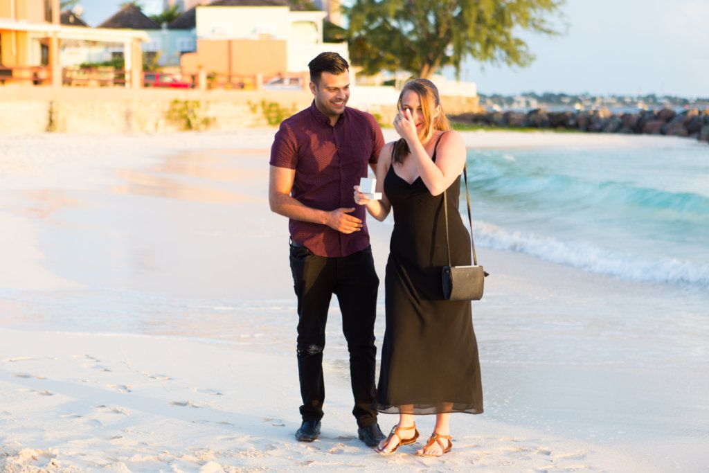 Proposal photo shoot in Barbados