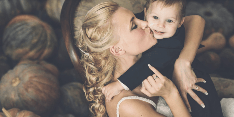 Bridal Photoshoot with a baby