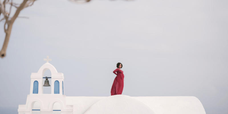 Maternity Photoshoot in Santorini