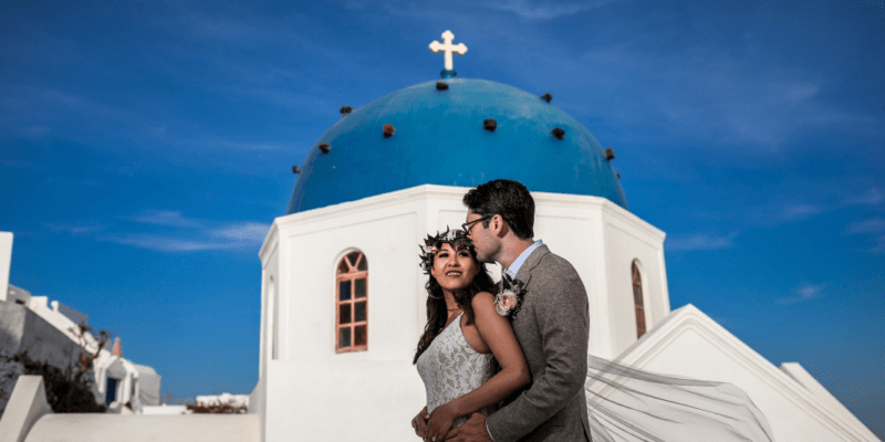 Bridal Photoshoot in Santorini