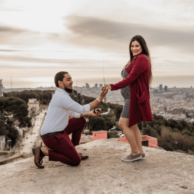 Surprise Proposal Maternity Picture