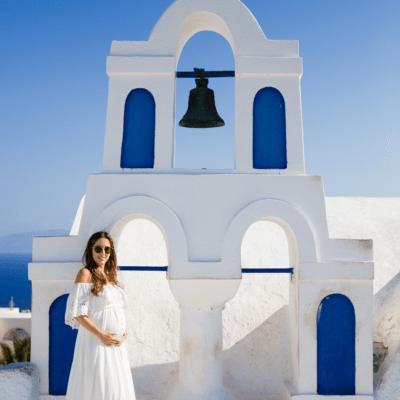 Maternity Shoot in Santorini