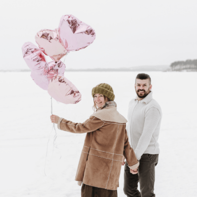 Couple Christmas Photo Shoot Ideas